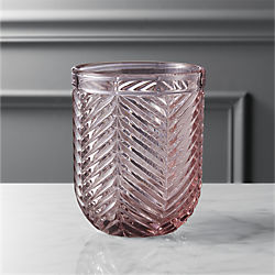 eloise light pink double old-fashioned glass