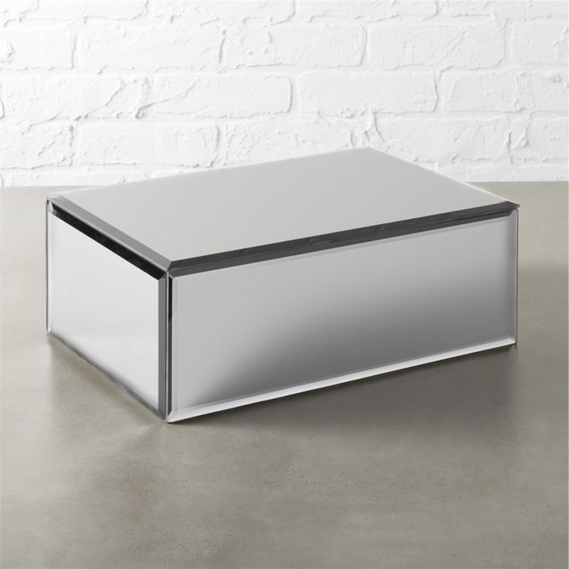 Enchant Mirrored Storage Box CB2