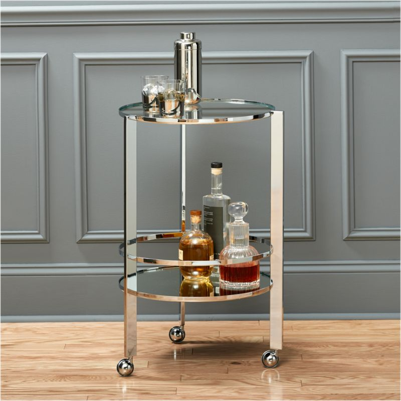 Ernest Chrome Bar Cart Reviews Cb2
