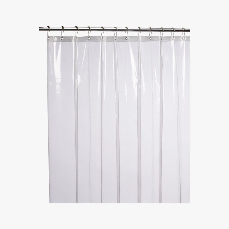 peva clear shower curtain liner | CB2