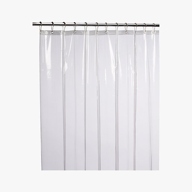 Peva Clear Shower Curtain Liner Cb2