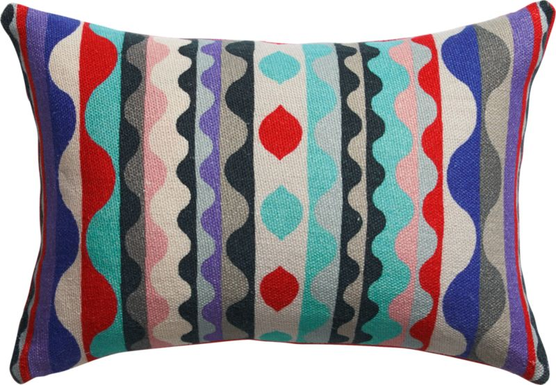 """exhibit linen 18""""x12"""" pillow with feather-down insert"""
