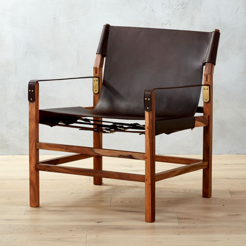 expat ii leather safari chair