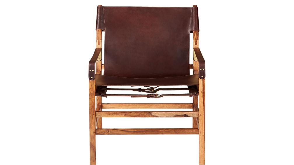 Expat II Leather Safari Chair