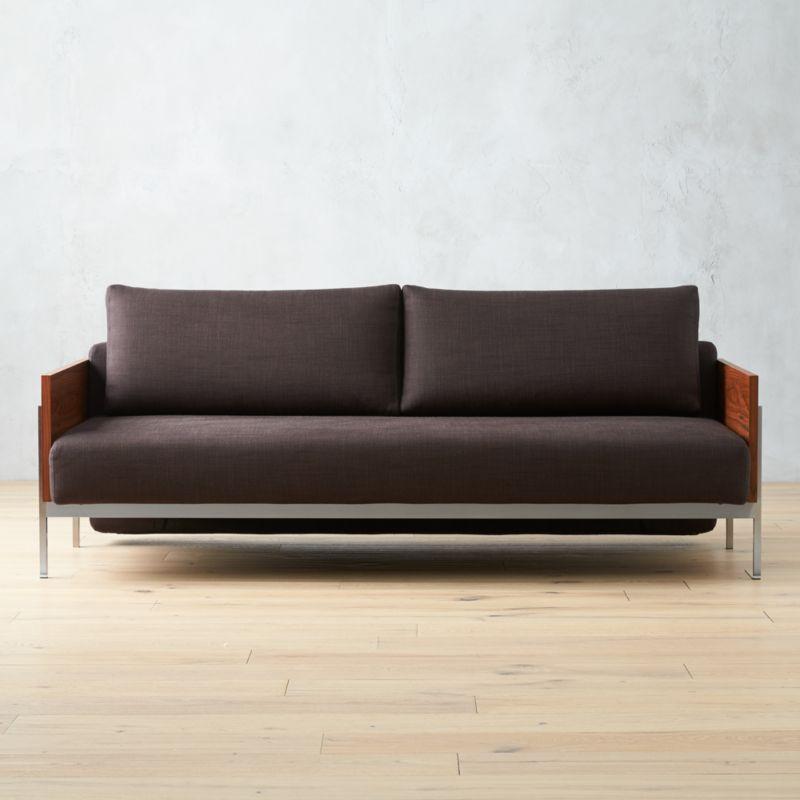 Elegant Exton Espresso Sleeper Sofa
