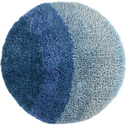Be Who We Are Blue Shag Rug 8'