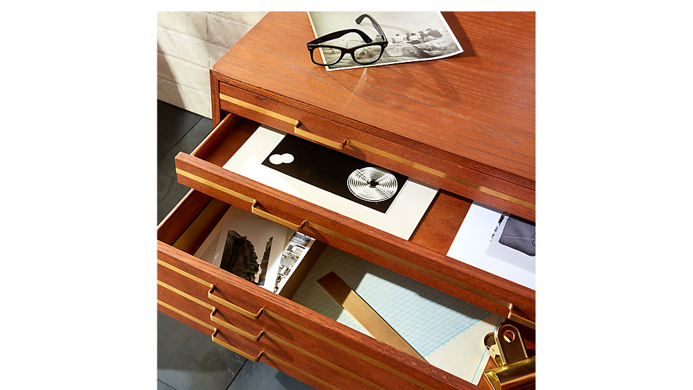 Inline Brass Filing Cabinet