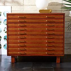 Inline Brass Filing Cabinet