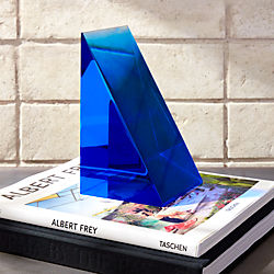 Deep Blue Acrylic Bookend