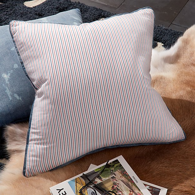 "23"" Heritage Striped Pillow"