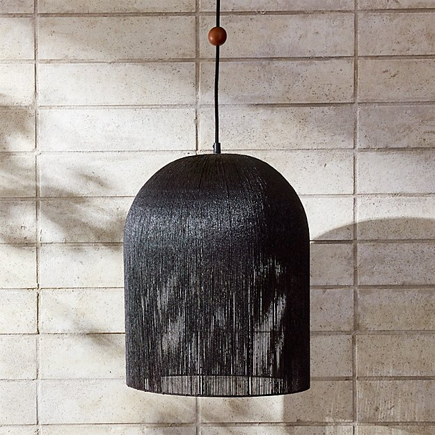 Love one another black iron pendant light cb2 mozeypictures Image collections