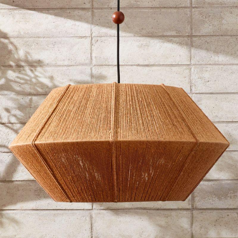 Love One Another Natural Pendant Light - Modern Flush Mount Lighting And Pendants CB2