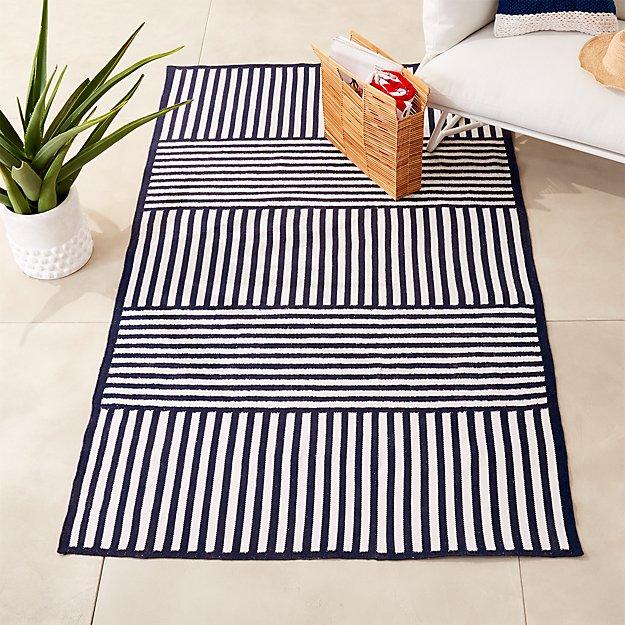Striped indoor outdoor rug cb2 for Cb2 indoor outdoor rug