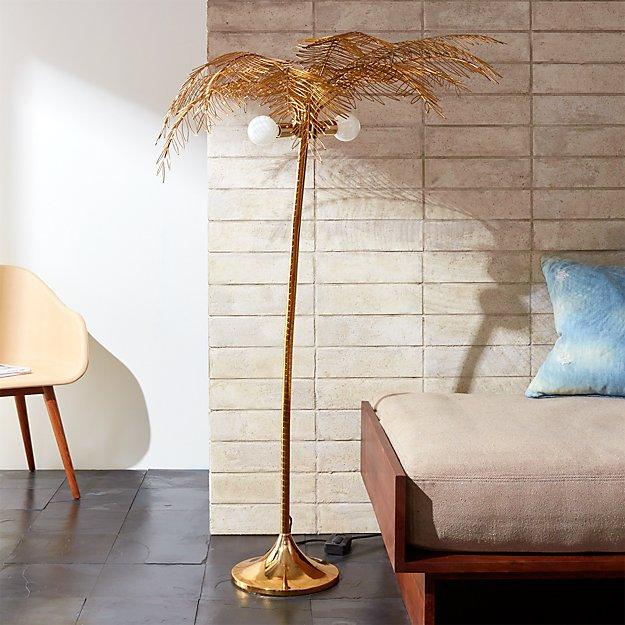 Ocean palm tree floor lamp cb2 aloadofball Image collections