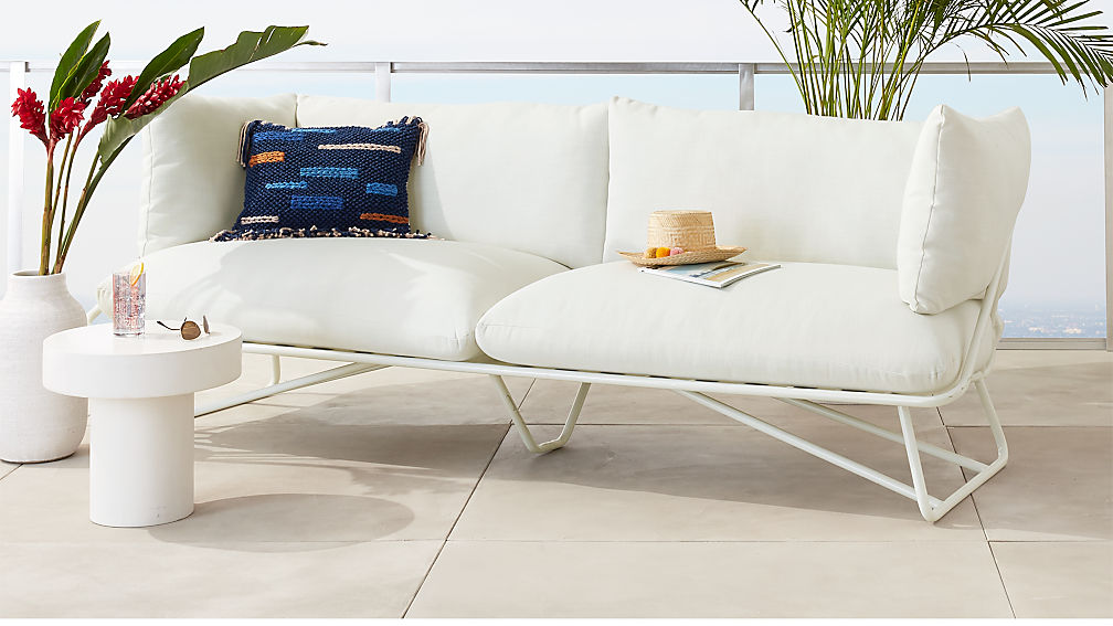 Pool Party White Outdoor Sofa In Sofas Reviews Cb2