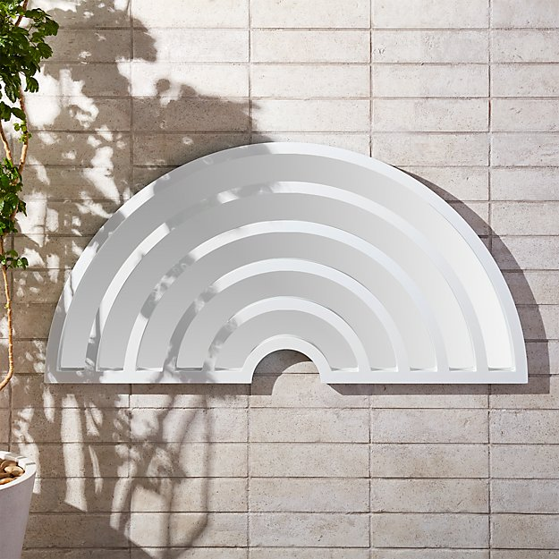 Pop Art White Wall Mirror CB2