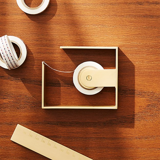 Solid Brass Studio Small Tape Dispenser