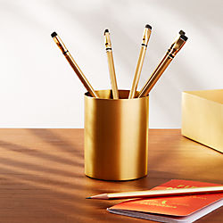 Solid Brass Studio Pencil Cup