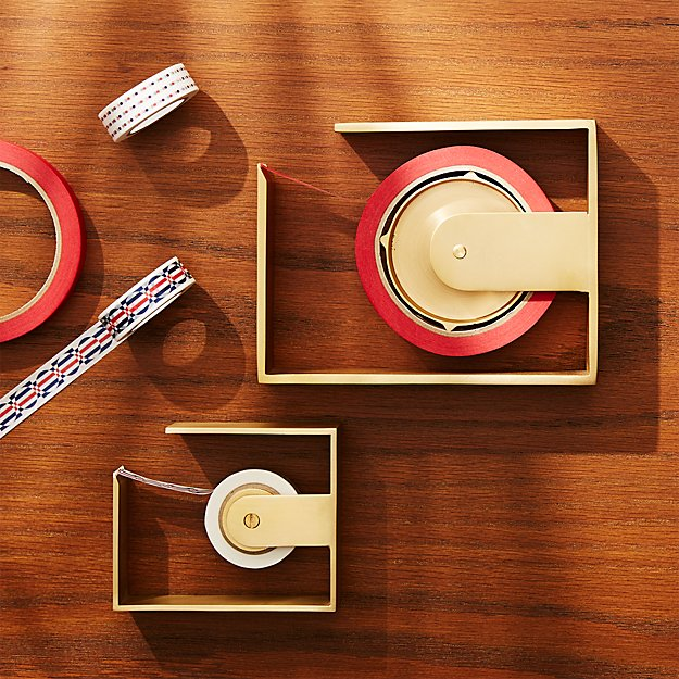 Solid Brass Studio Tape Dispensers