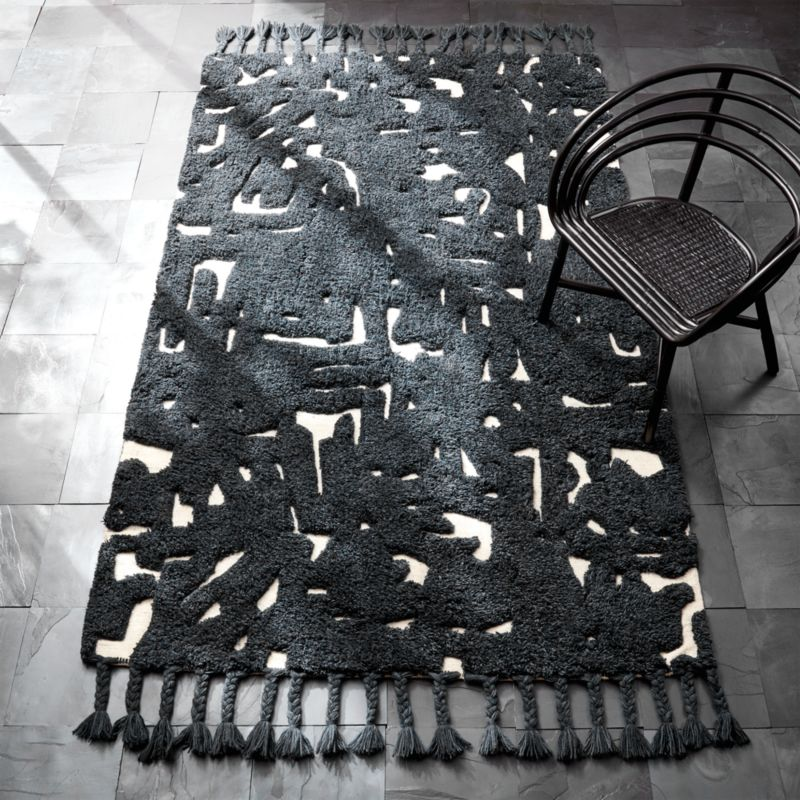Studio Art Black Braided Rug Cb2