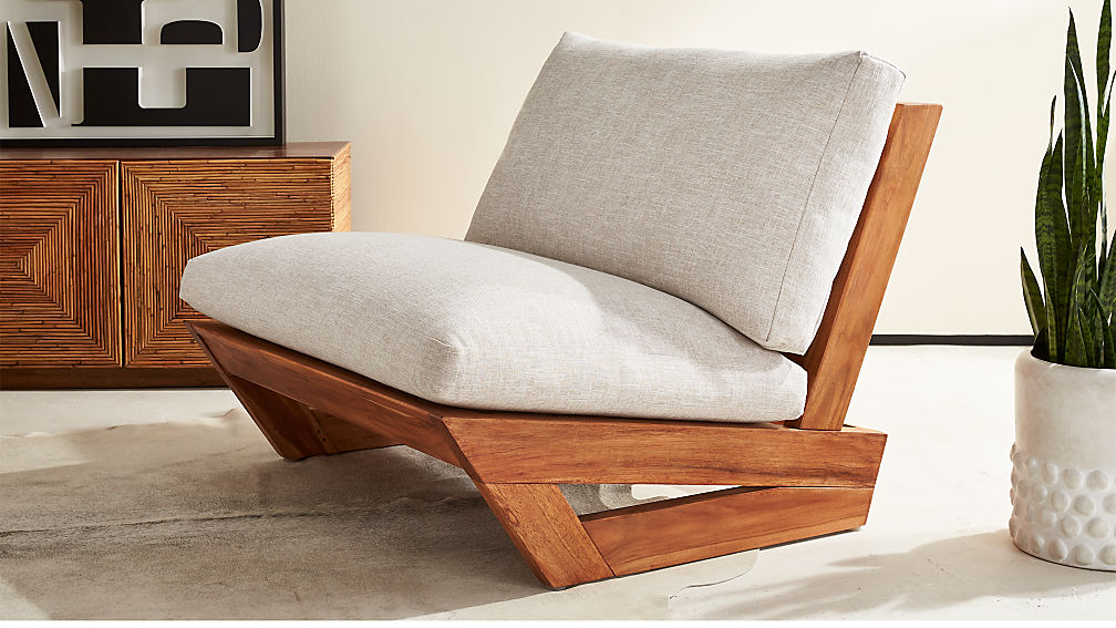 Sunset teak lounge chair reviews cb2 - Design plans for wood chaise lounge chair ...
