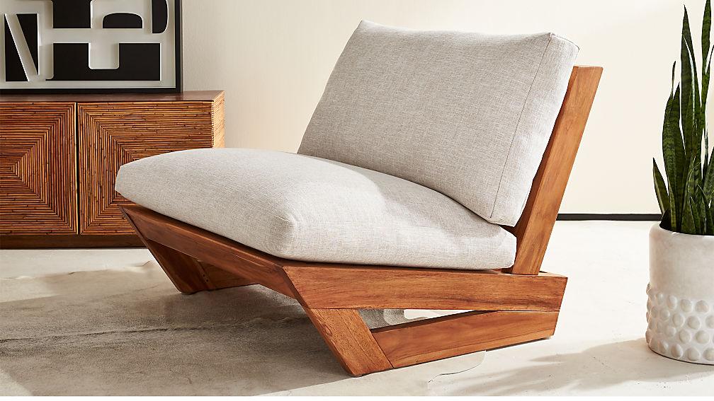 Lounge Chair sunset teak lounge chair reviews cb2