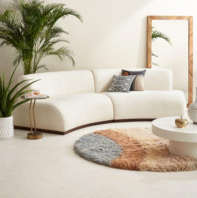 curved sofas cb2 - Curved Sofas