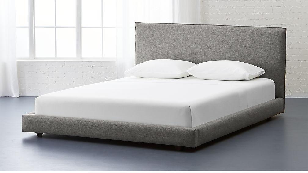 Ebern Designs Nageshwar Platform Bed Reviews: Façade Grey Bed