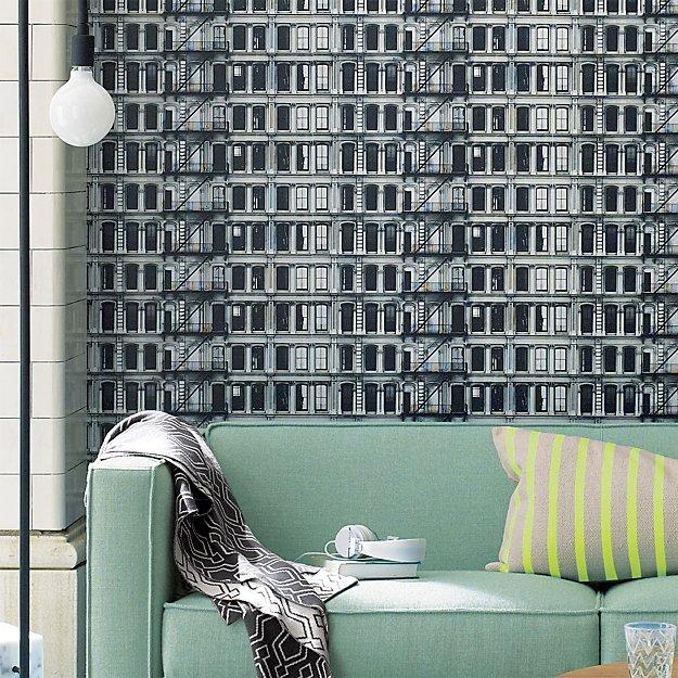 facade-self-adhesive-wallpaper by crate&barrel