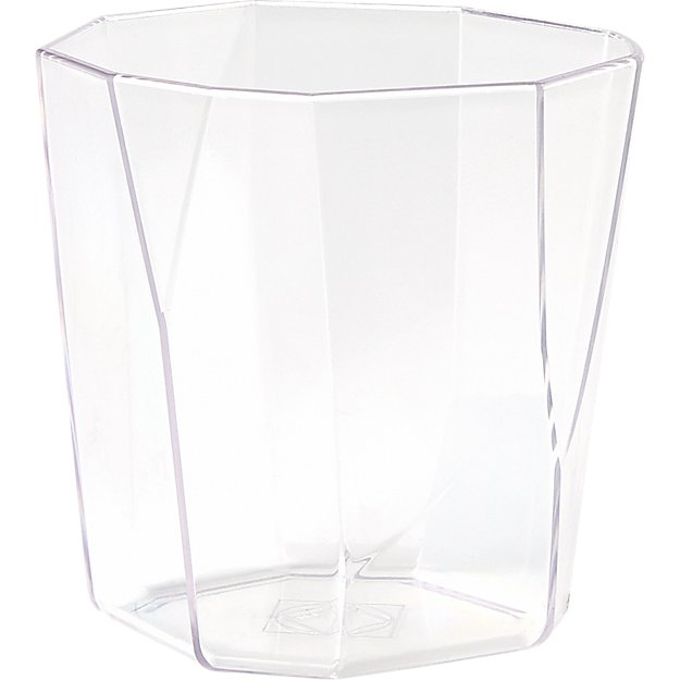 facet clear acrylic double old-fashioned