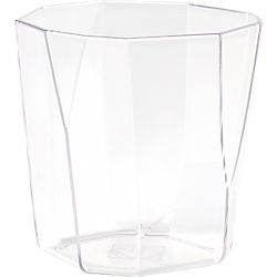 facet clear acrylic double old-fashioned glass