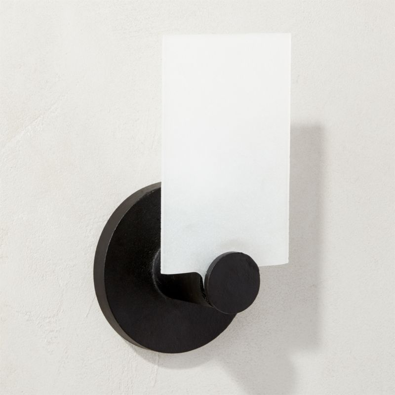 Cb2 Repeat Wall Sconces : Fan Black Glass Wall Sconce CB2
