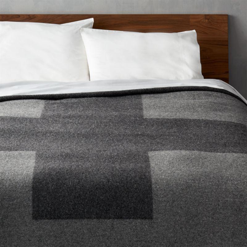 faribault plus full/queen blanket | CB2 : woolen quilt - Adamdwight.com