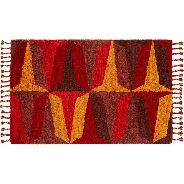 Farrah Red Shag Rug 5'x8'