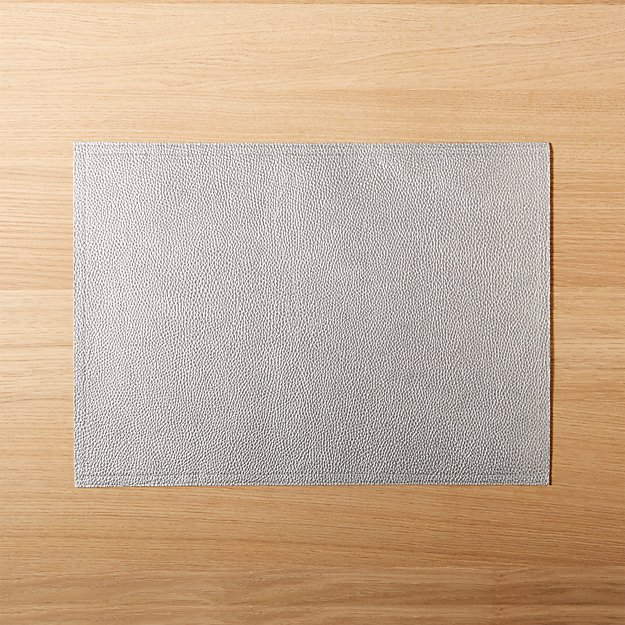 Faux Leather Silver Placemat