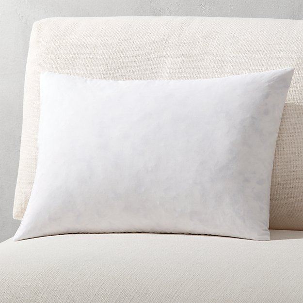 "18""x12"" feather-down pillow insert"