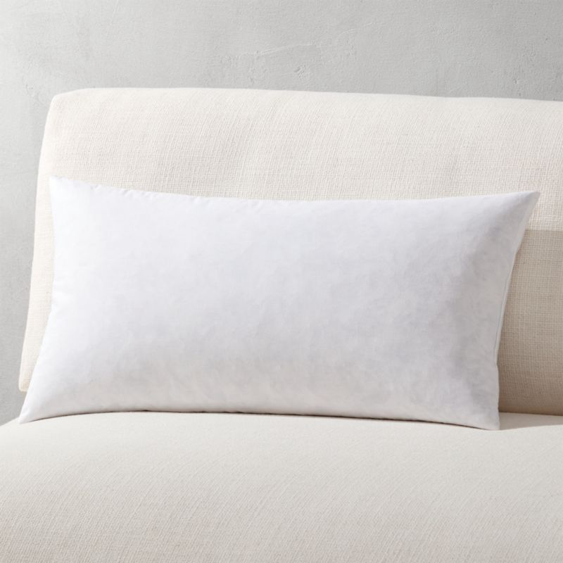 "23""x11"" feather-down pillow insert"