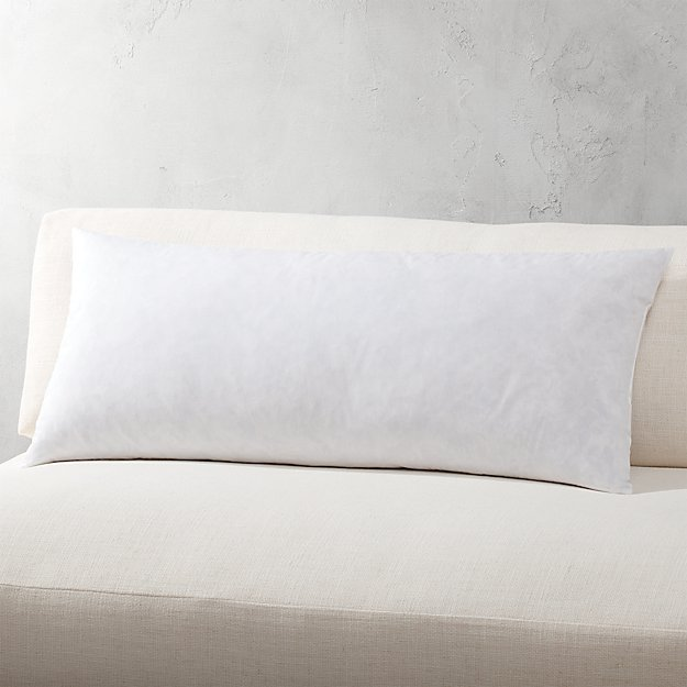 "36""x16"" feather-down pillow insert"