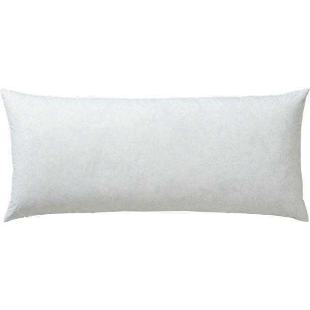 "36""x16"" feather-down pillow insert"