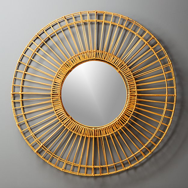 Ferris Natural Round Wall Mirror 41.5""