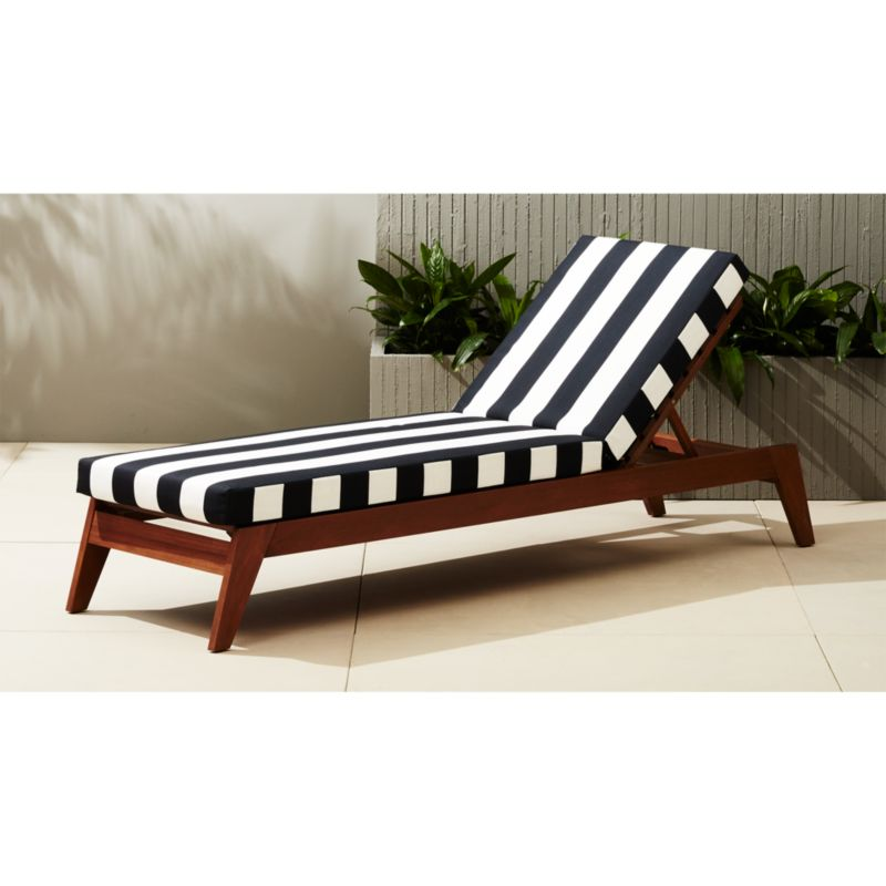 Filaki black and white chaise lounge cb2 for Black and white chaise lounge cushions