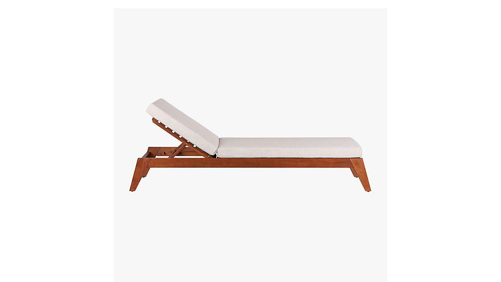 filaki lounger with natural cushion