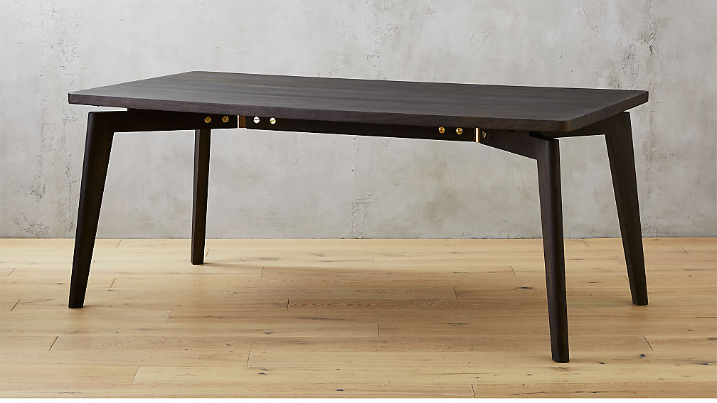 finmark charcoal black wood dining table cb2 - Black And Wood Dining Table