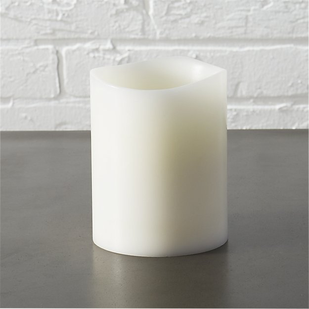 "flameless 3""x4"" LED pillar candle"