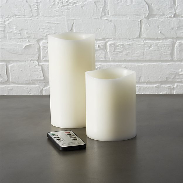 flameless LED pillar candles