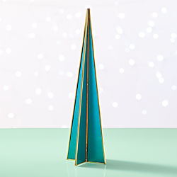 Flash Medium Teal Glass Tree