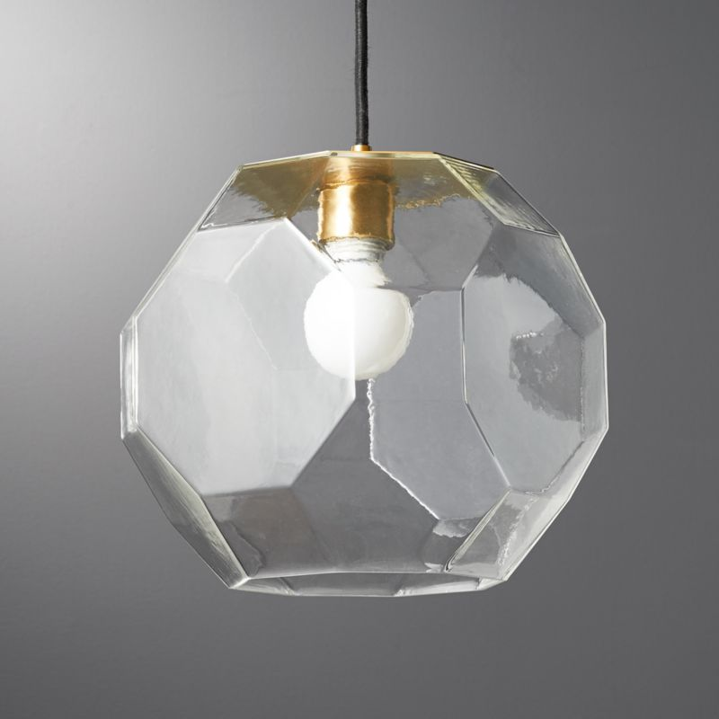 Flat Glass Pendant Light Reviews Cb2