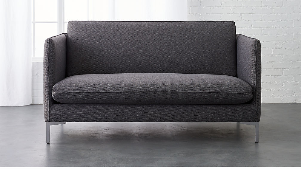 flatiron grey apartment size sofa | CB2