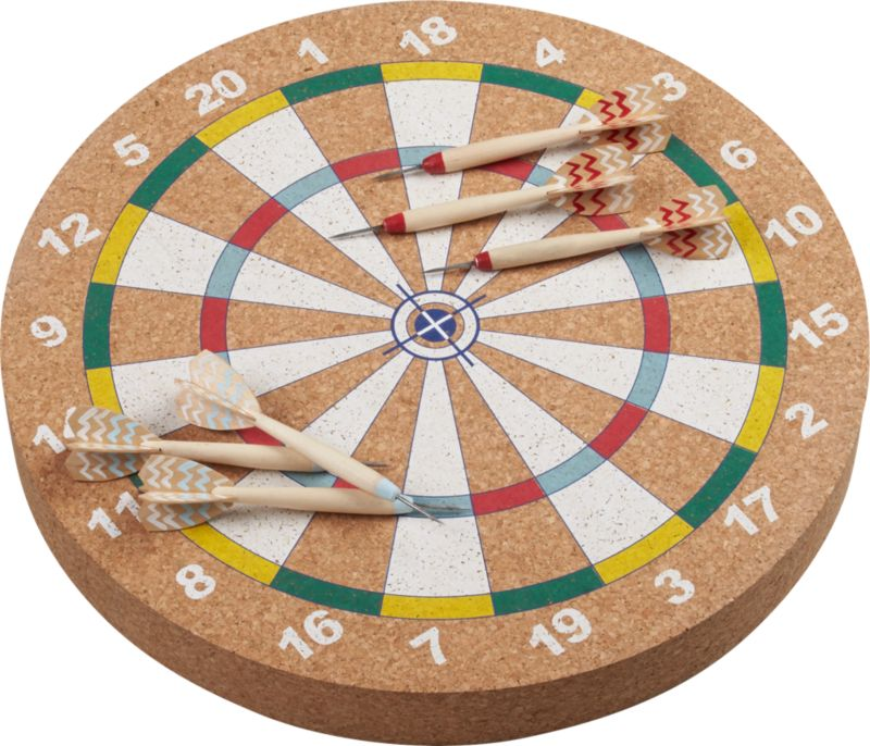 flechette dartboard and darts game