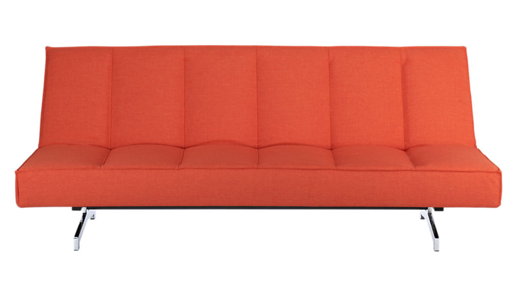 Flex Orange Sleeper Sofa Cb2
